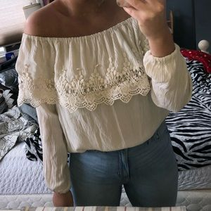 Cute off the shoulder long sleeve